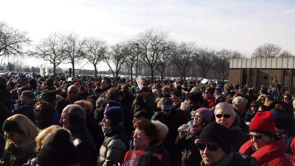 sanders michigan healthcare rally