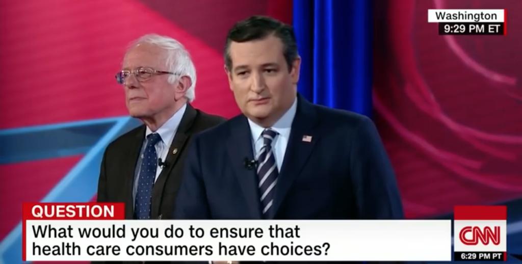 sanders and cruz debating