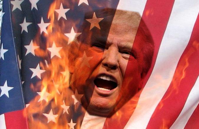 hillary clinton flag burning