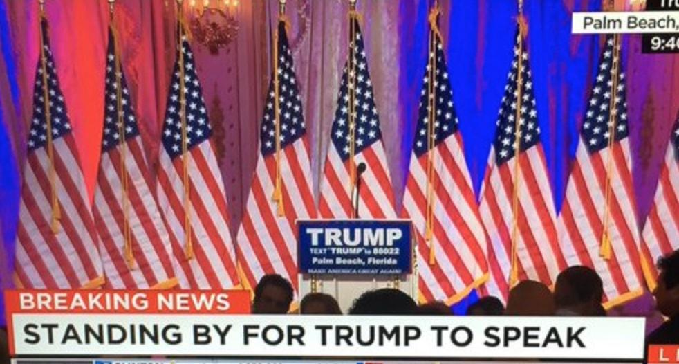 empty trump podium